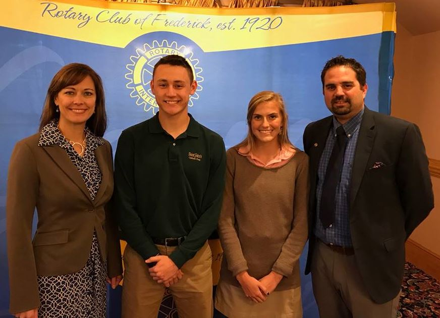 Student Guests at Rotary Club of Frederick